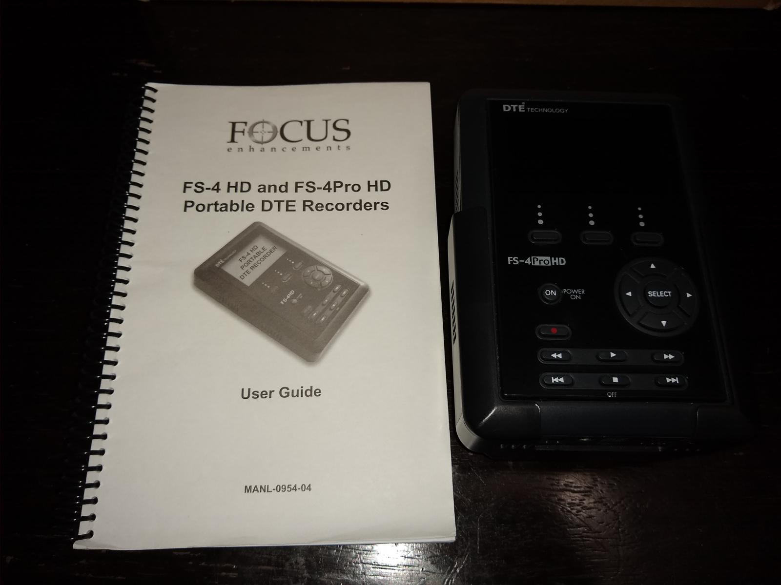 Photo of Focus Enhancements FS-4Pro HD 80GB Portable DTE Recorder (Direct To Edit)