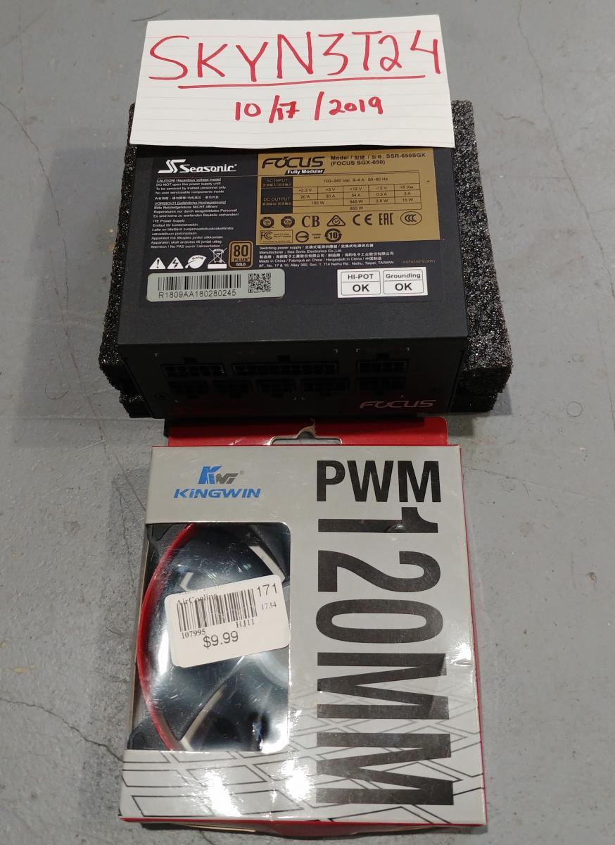 Photo of Seasonic650w SFX-L Power Supply,MINT! + 120mm Static Pressure PWM Fan