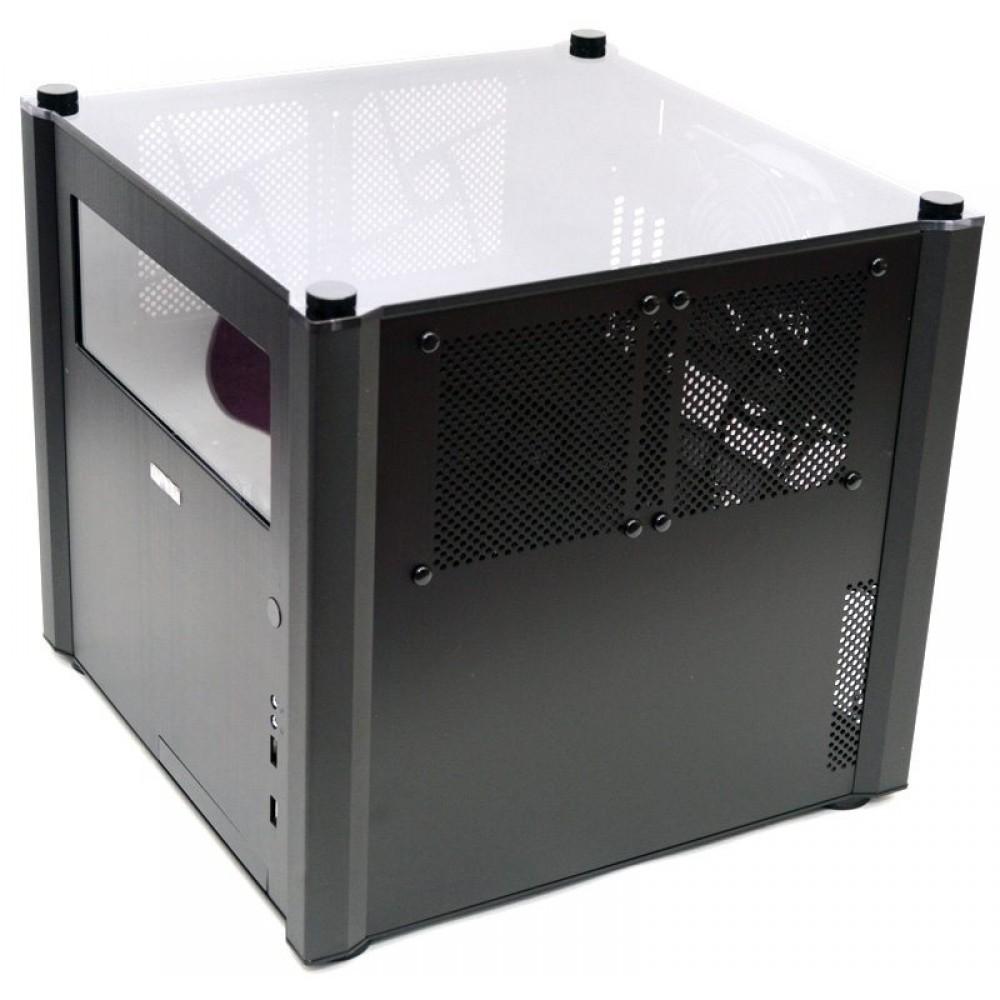 Photo of Lian Li PC-V359WX Black Cube Aluminum microATX PC Case.MINT!