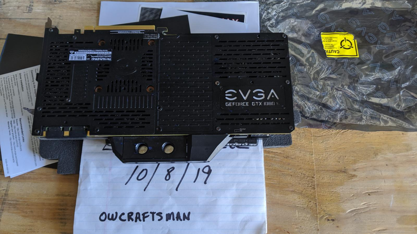 Photo of EVGA 1080Ti FTW3 w/ EK waterblock and factory Backplate[Reduced]
