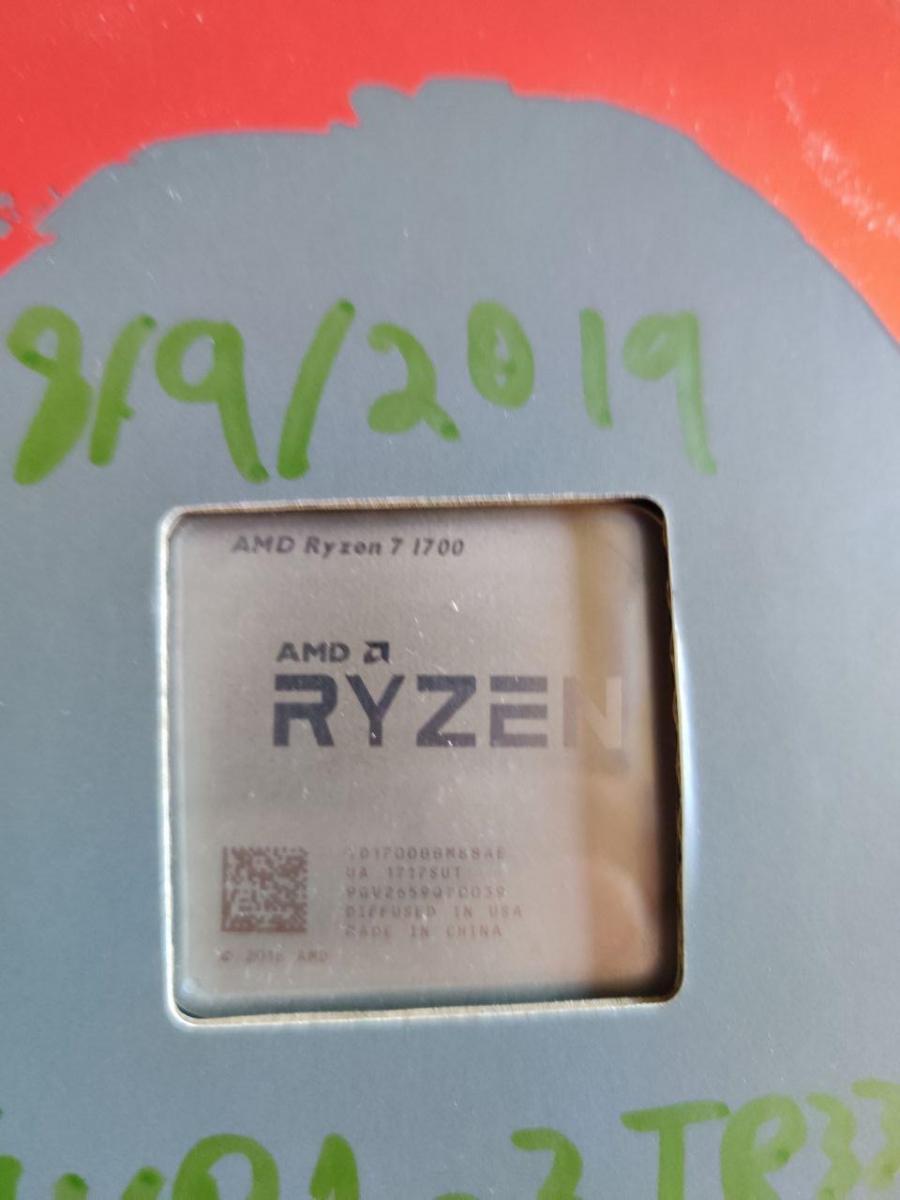 Photo of Ryzen 7 1700 with RGB Stock Cooler
