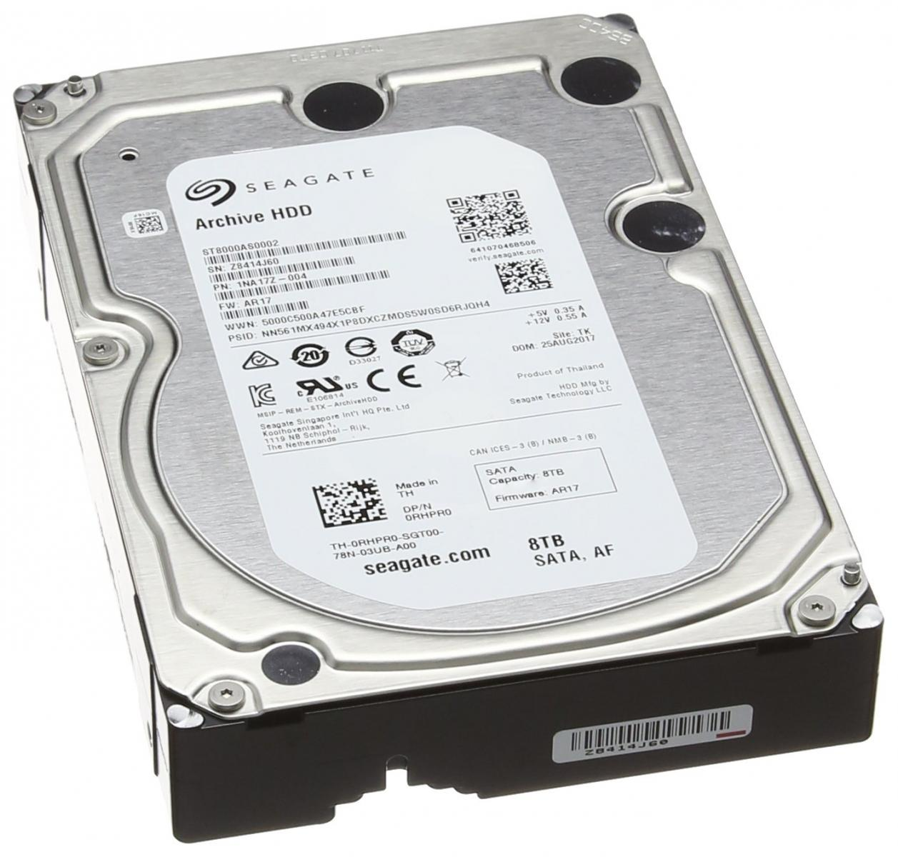 Photo of Seagate Archive 8TB 3.5inch 5900rpm Internal Hard Drive.Used-Great!
